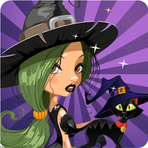 App Icon Design Witch Halo