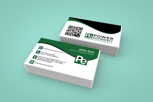 Business card design for Power Economy