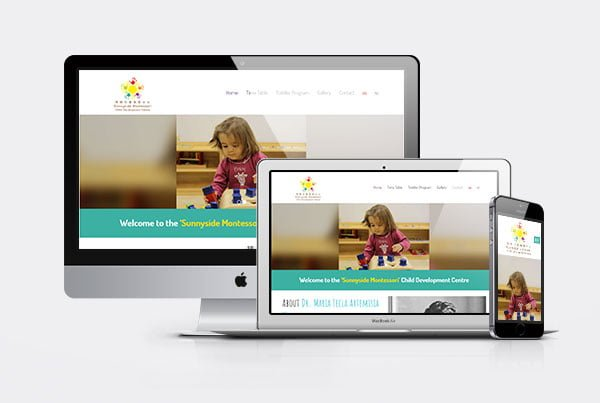 Web design and Development for Sunnyside Montessori
